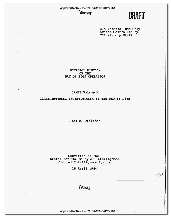 #CIA Releases Controversial Bay of Pigs History https://t.co/aQcXHNzMST #FOIA https://t.co/TMv4w89OHk