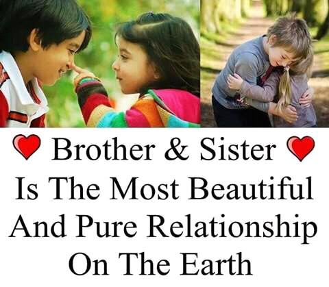 status related to brother and sister relationship on photo