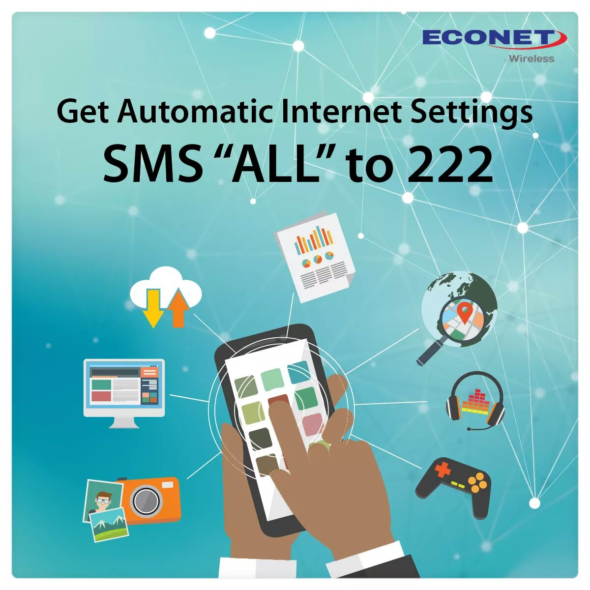 Econet Wireless On Twitter Got A New Smartphone Sms All To 222 To Receive Automatic Internet Settings For Free Unlock The Power Of Your Device Today Https T Co Jewl0o9c9i