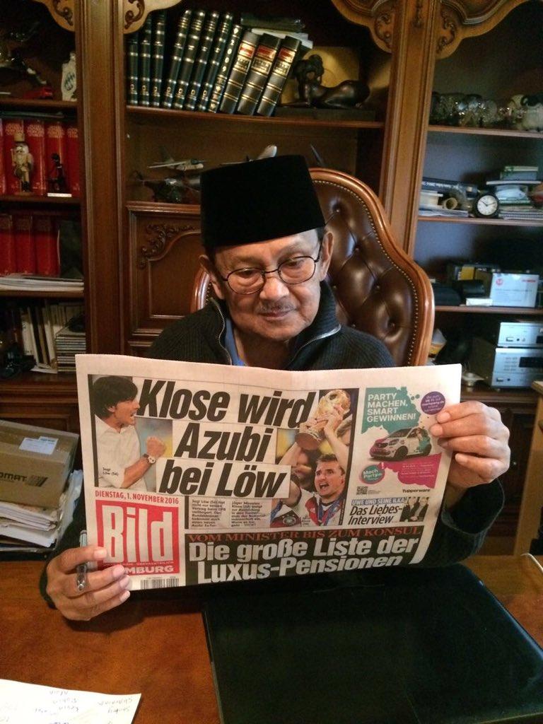 Allhamdulillah Pak Habibie pagi ini dalam keadaan sehat https://t.co/YO1wnGmMez
