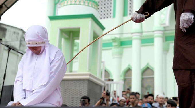 Unmarried Couple Flogged a 100 times in Indonesia