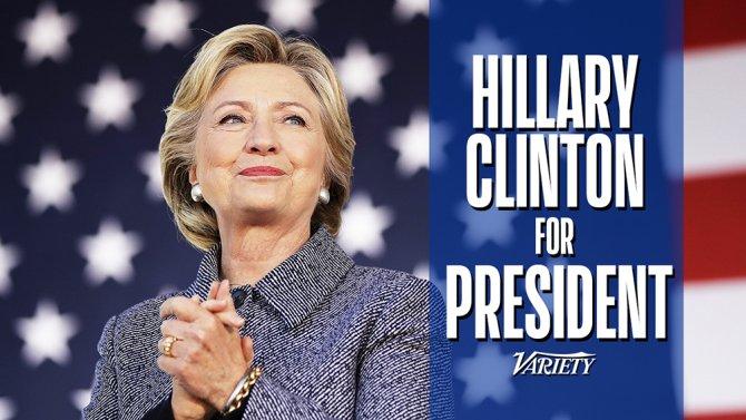 Variety endorses Clinton
