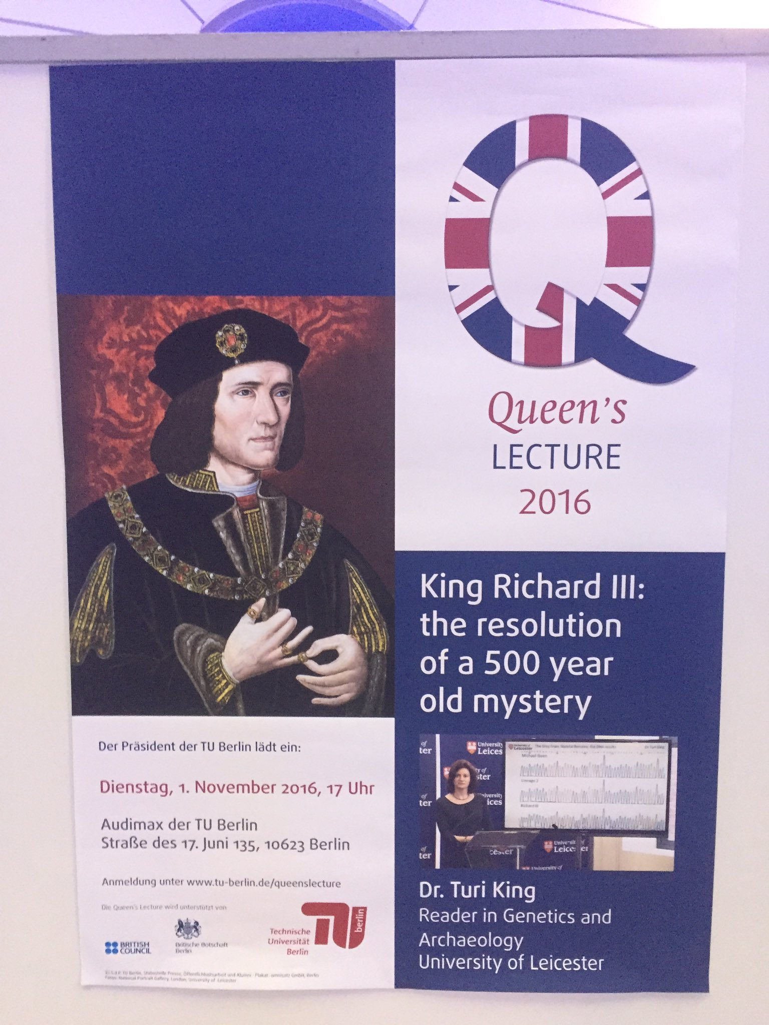 20 minutes to go for #QueensLecture @uniofleicester @richard_third @deBritish @SebWoodFCO https://t.co/Lcd35VOGP6