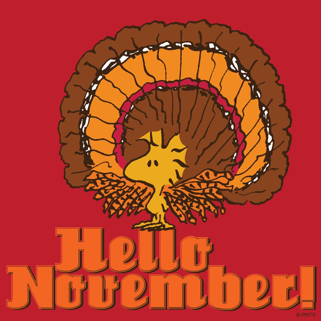 peanuts on twitter hello november