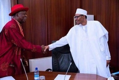 A crucial meeting between Buhari and Niger Delta Stakeholders to find lasting solutions to the crises in oil producing areas is now underway in Abuja
