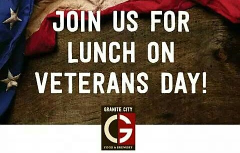 Veterans and active military members- your lunch and a coke is on us this Veterans Day! https://t.co/zV6LHlm4xW