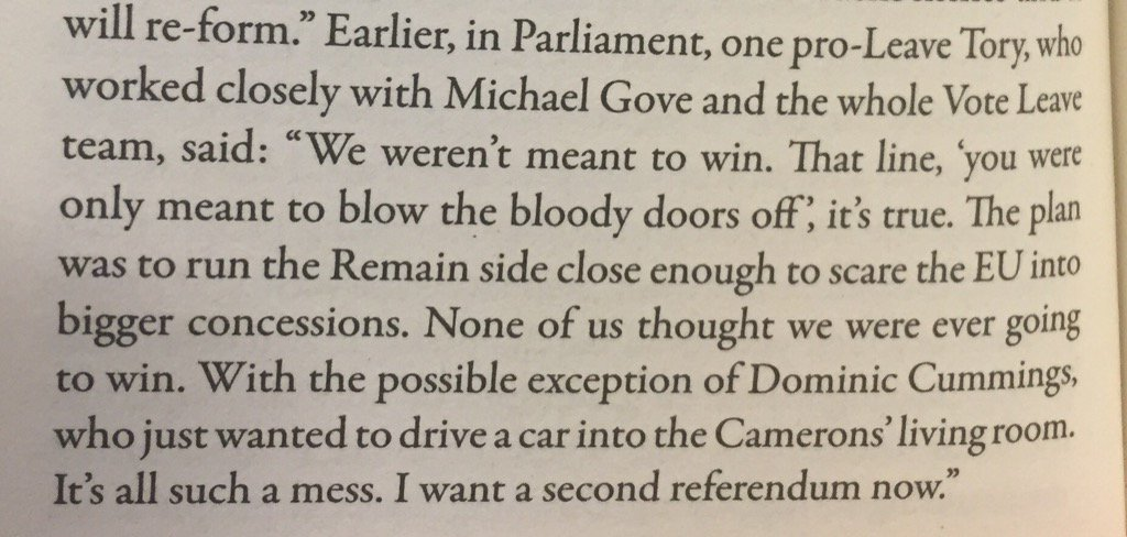 Quote from anon Leave MP in @GaryGibbonBlog's Breaking Point, Brexit diary, 14 July https://t.co/ebm4UA52xC