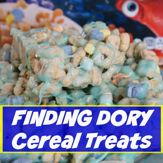 Quick and Easy Finding Dory Cereal Treats