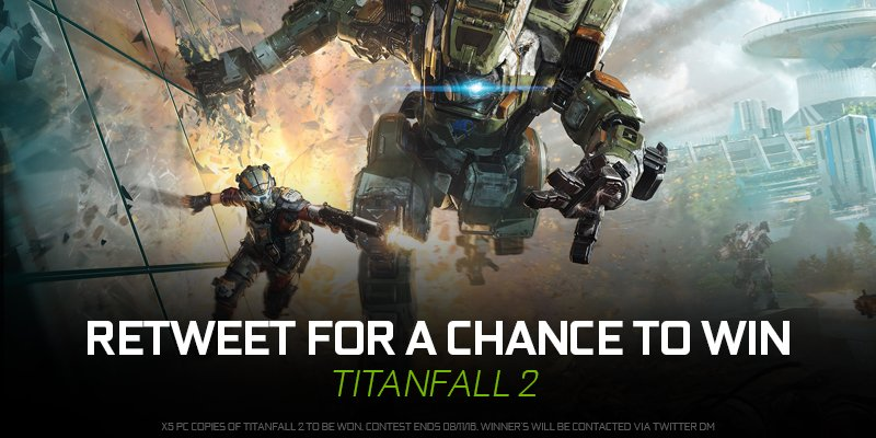 RETWEET for a chance to win a copy of Titanfall 2! https://t.co/Tf1ui9YCQp