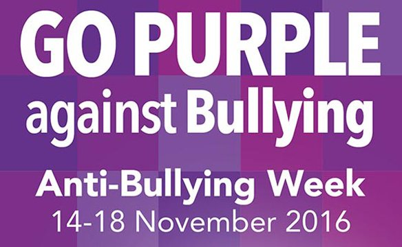 Go Purple Against Bullying Nov 14th-18th 2016 and support BulliesOut!   https://t.co/uiRdL8TbAC https://t.co/U602XFdIN0