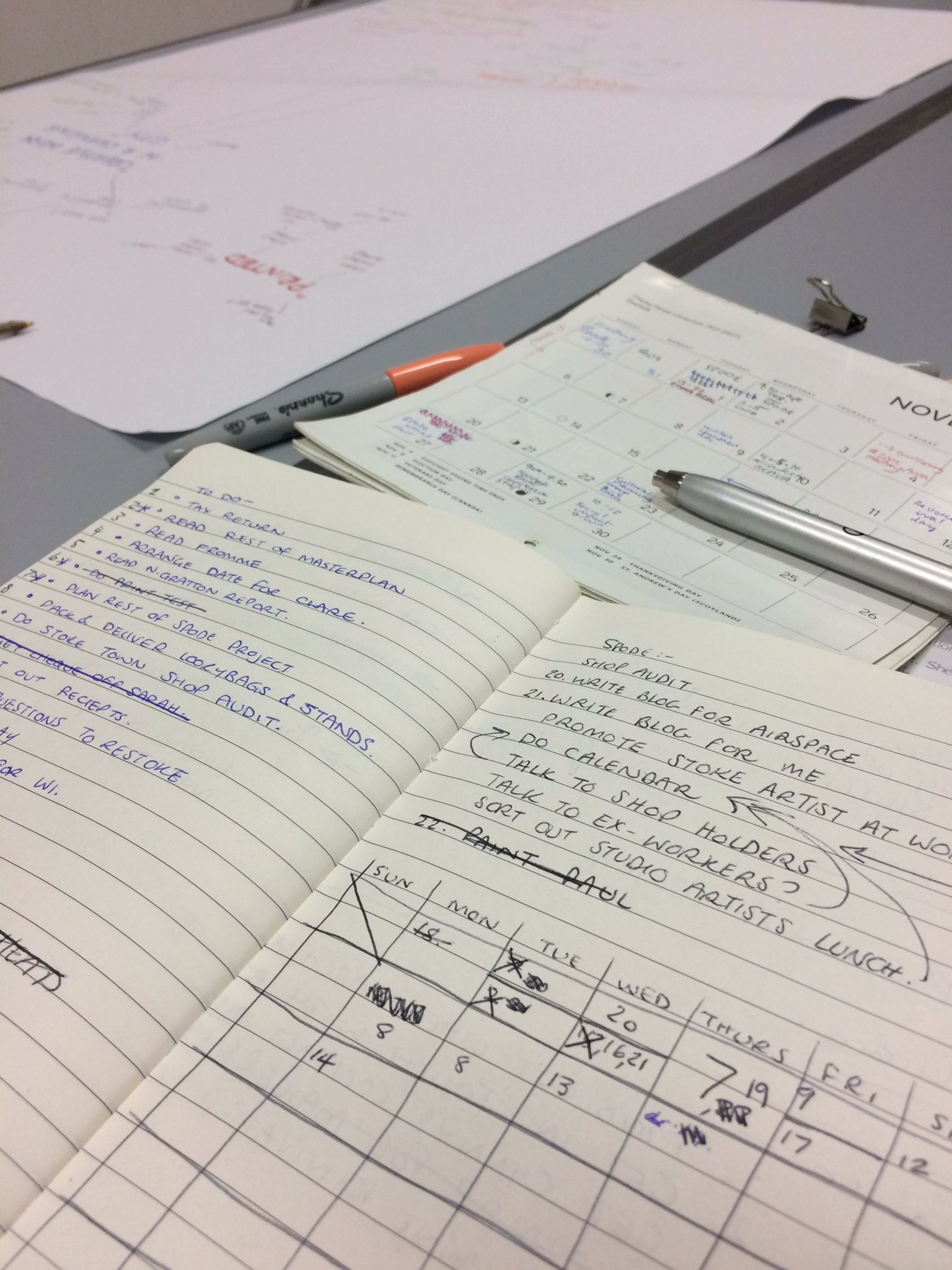 5-6: all this talk and discovery leads to a whole lot of list making, planning and arranging #listmaking #nextstep #stokeartistatwork https://t.co/ILFYbGT2mE