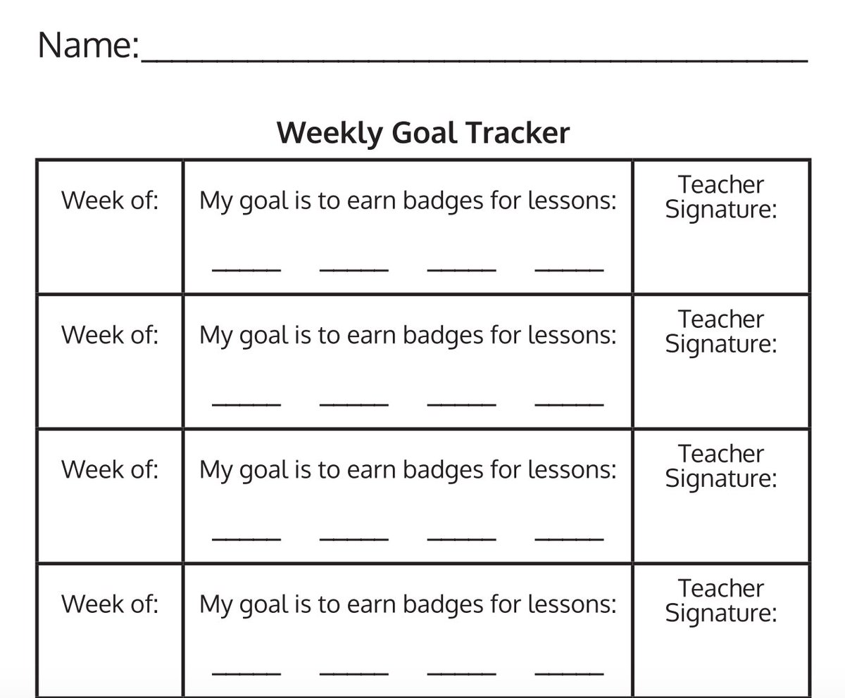 picture about Weekly Goal Sheets named Zearn upon Twitter: \