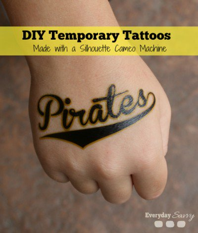 These DIY Temporary Tattoos are so fun! So many possibilities!