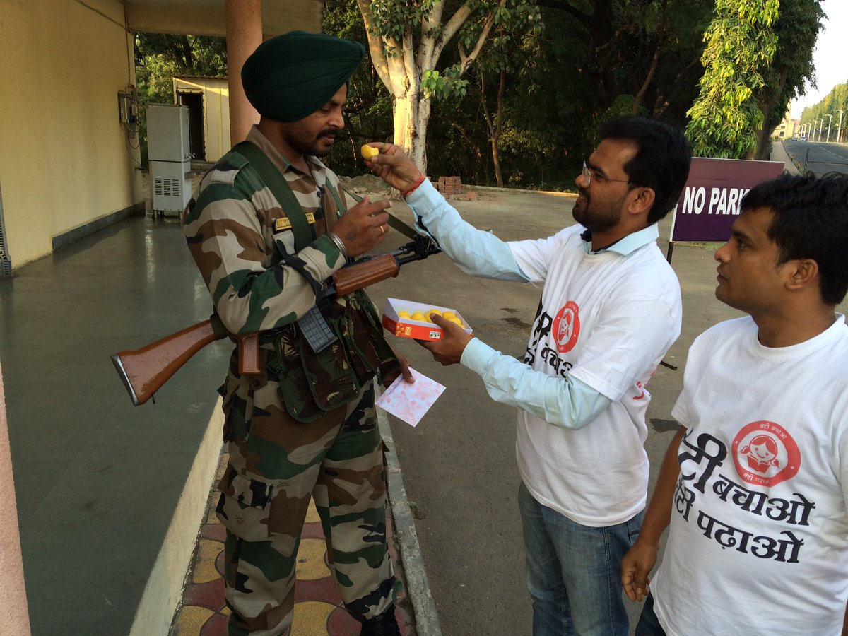 Amit Gupta On Twitter Celebrated Diwali With Indian Army In Pune