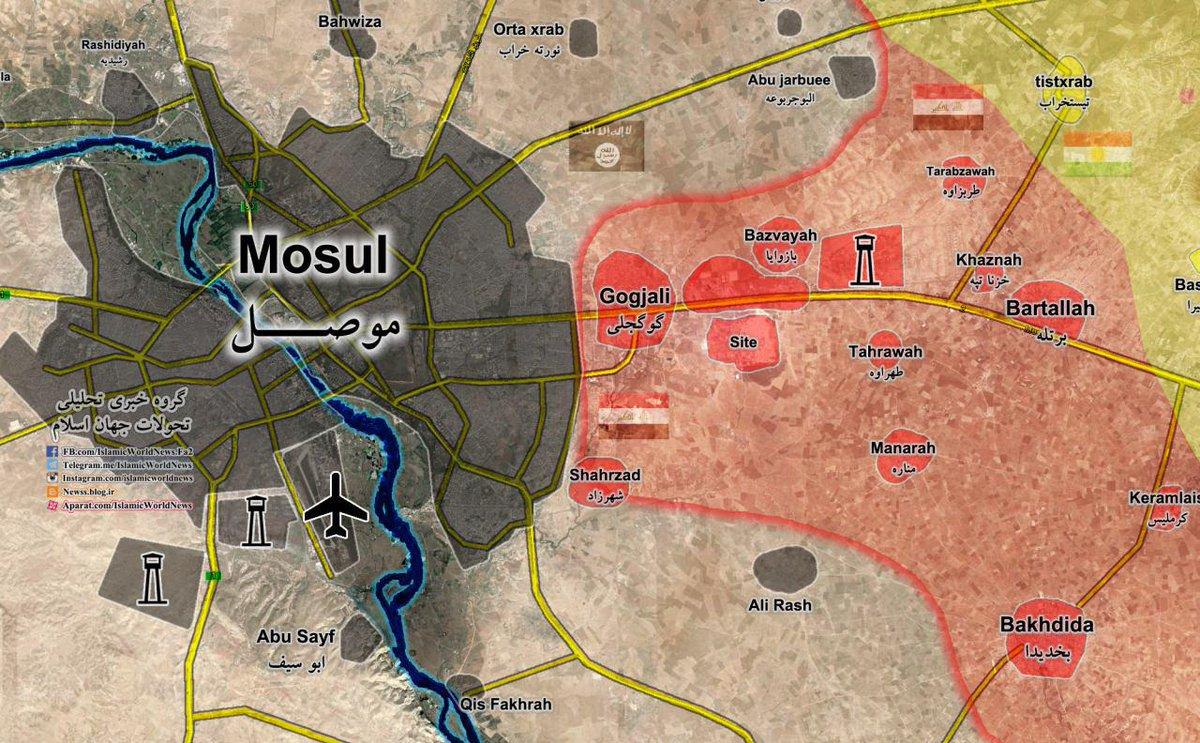 Mosul Map Location