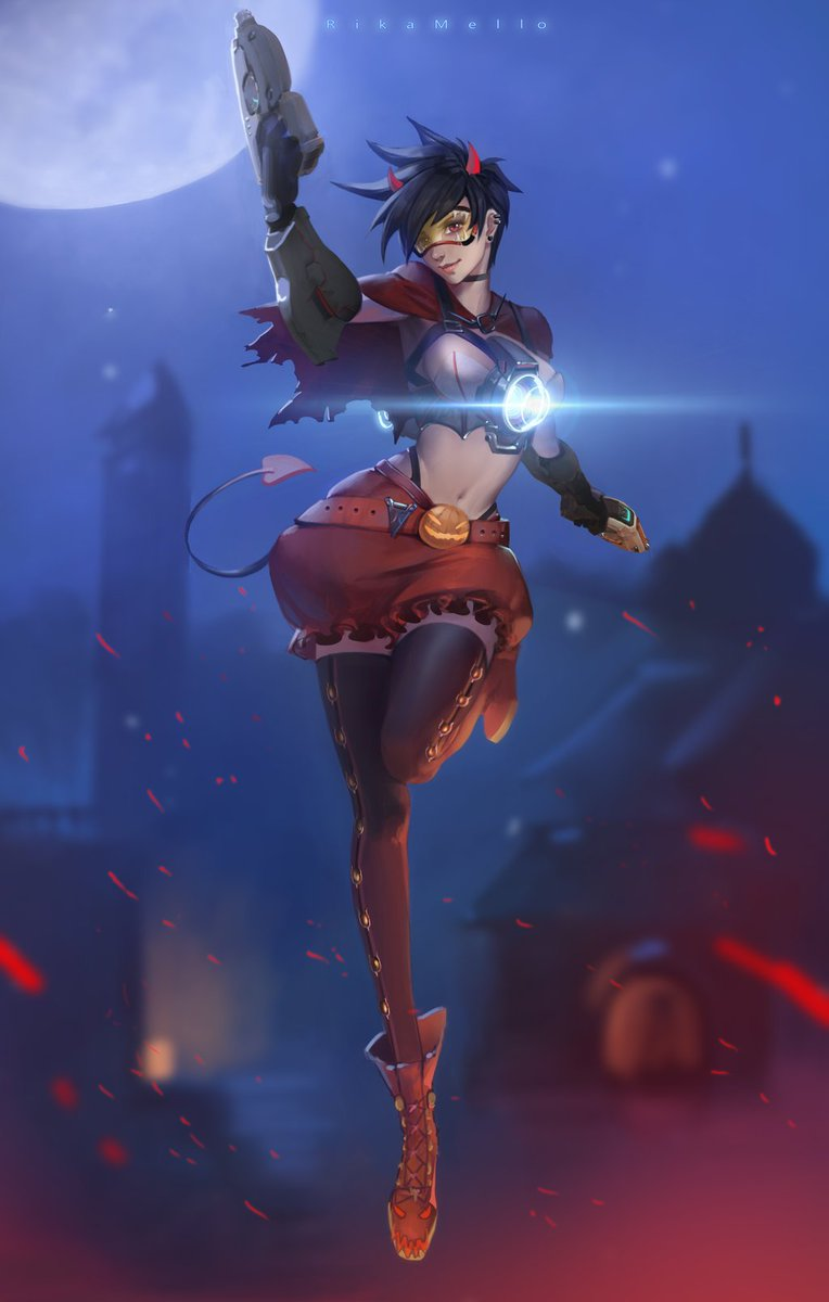 """overwatch feed on twitter: """"tracer halloween skin concept"""