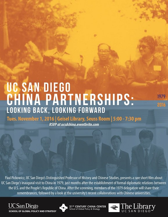 We're taking an amazing trip down memory lane tonight, with some rare footage of the first #UCSD contingent to visit #China back in 1979 https://t.co/vTQmcvQknh