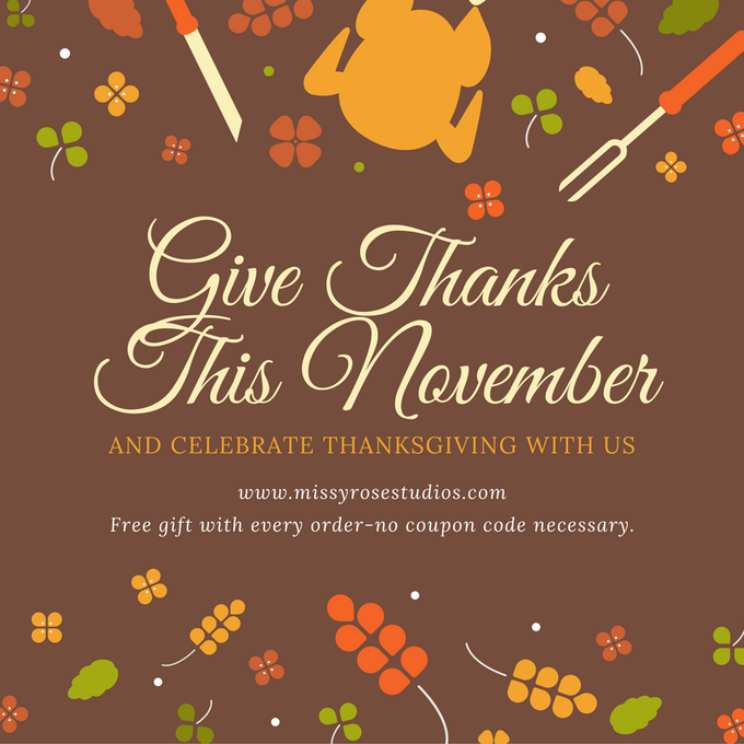 Happy holidays! Get a free gift! DIY handmade Thanksgiving Hol