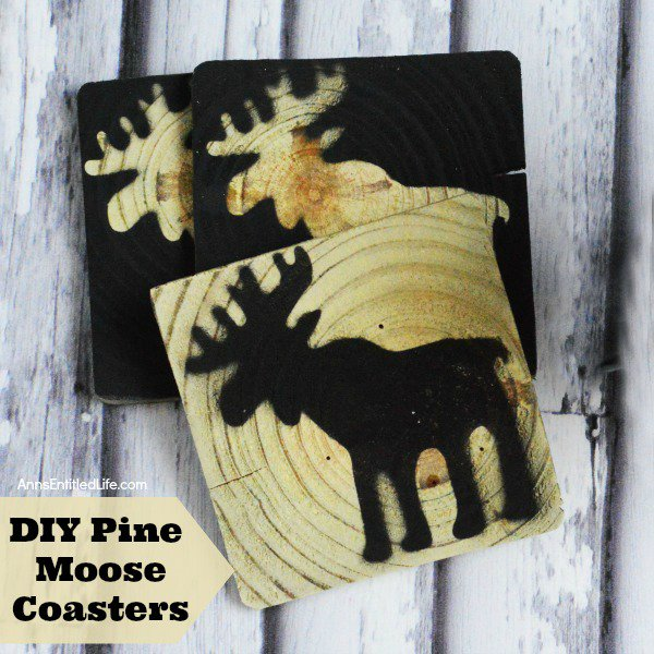DIY Pine Moose Coasters diy crafts decor