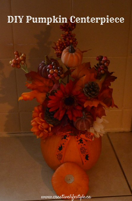 New Blog Post: Check out our easy DIY Pumpkin Centerpiece at DIY easy Arrangement s