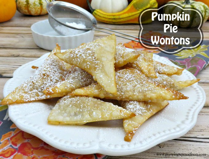 Pumpkin Pie Wontons perfect for the fall!   ://