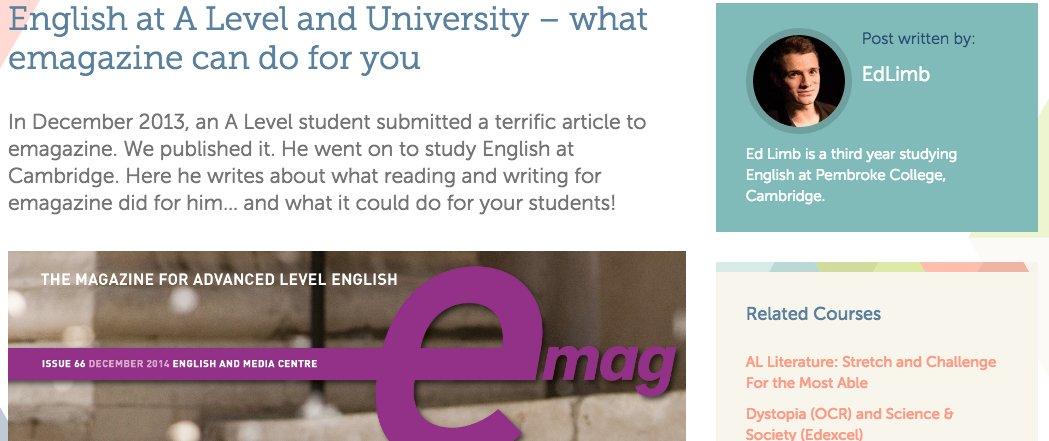 A level: English or Media?