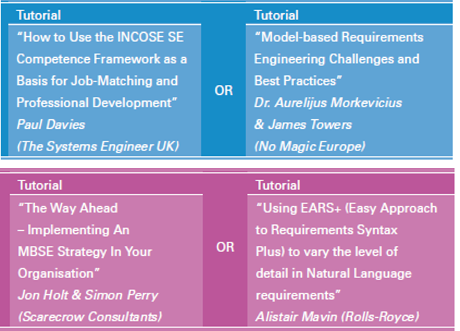 Have you registered for @incoseuk #ASEC2016 yet? Four great looking tutorials on offer https://t.co/nj8snn7RkB https://t.co/1w5M1eXg1f