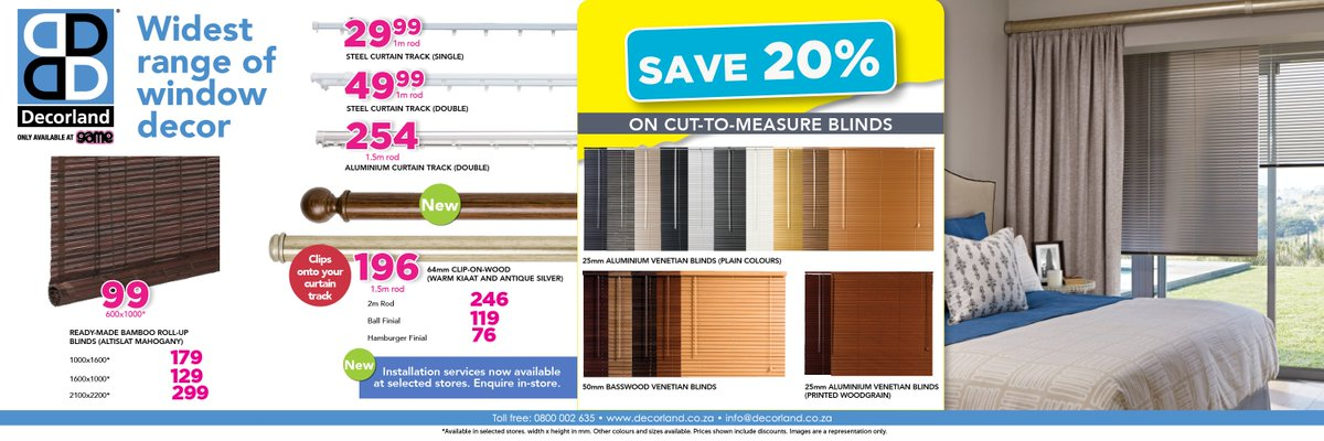 Game Stores Sa On Twitter Save 20 On Decorland Blinds For Your