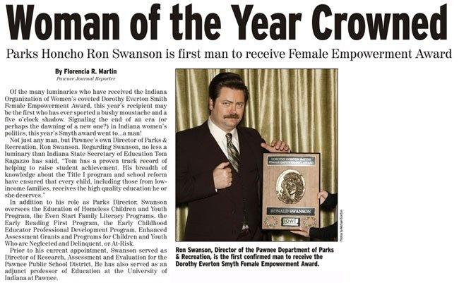 "Bono's ""Woman of the Year"" award reminds me of this. I can't see it any other way. #Bono #GlamourWOTY #ParksAndRec https://t.co/hs9EGbh8vc"