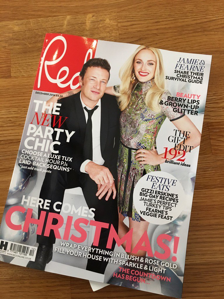 Thank you so much @RedMagDaily for putting me on your Christmas cover with the mighty @jamieoliver A total dream! https://t.co/FTHiv9fl5S