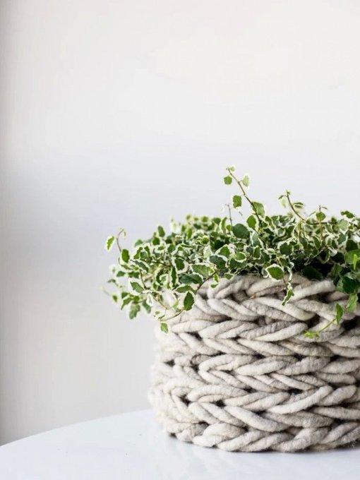 Brei je eigen plantenmand zonder naalden! mwpd DIY