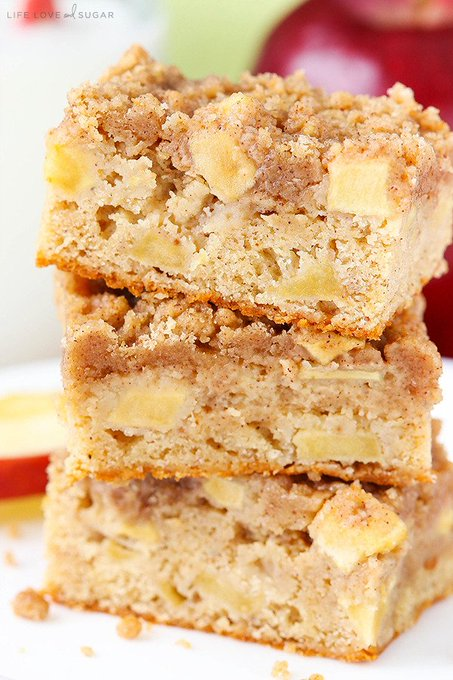 Apple Streusel Bars! Easy to make and great for fall! ://