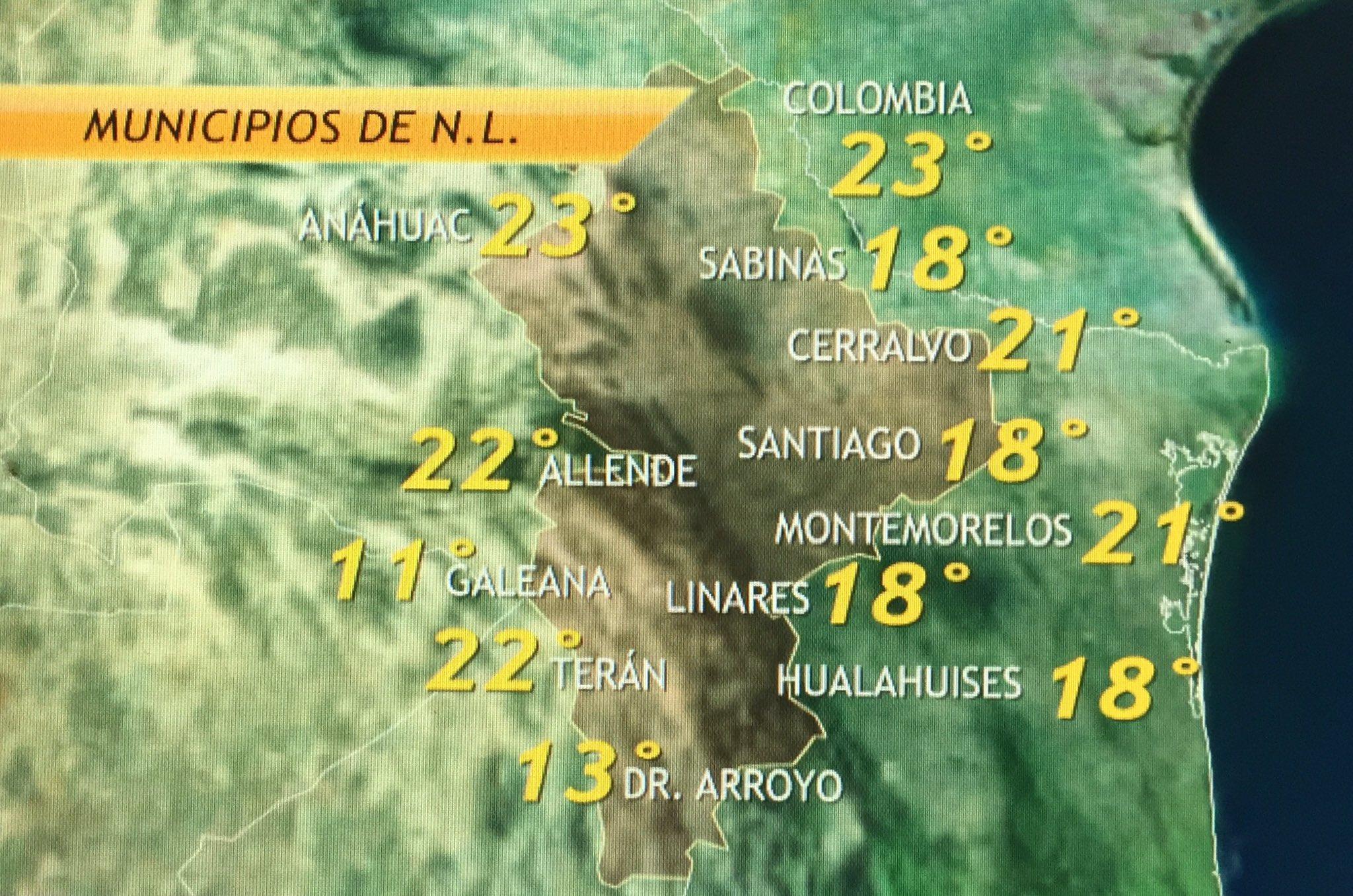 """Gaby Lozoya on Twitter: """"Buenos días!!! Se aproxima el frente frío a"""