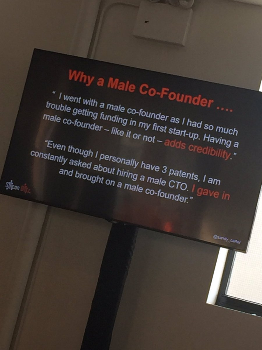 Scary comments from a female founders study conducted by @sandy_carter and Carnegie Mellon. #TheScaleCollective https://t.co/n6RjJTJrXM