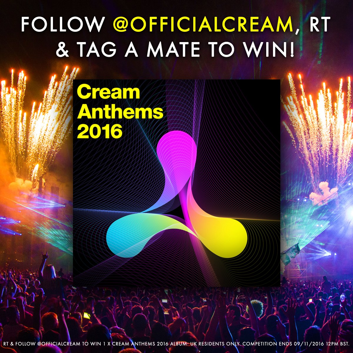 #WinItWednesday | RT, Follow @officialcream & tag a mate to #WIN a Cream Anthems Album!