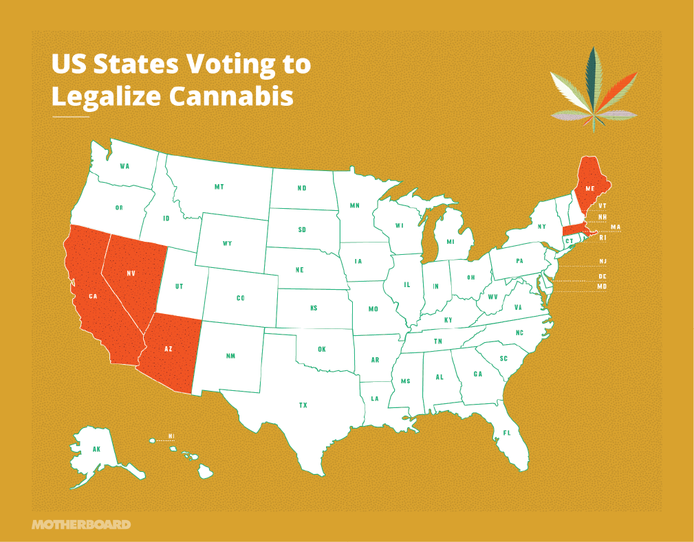 all the states voting on legalizing recreational marijuana in 2016 mjnews