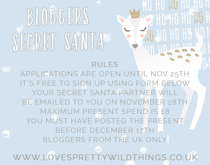 SIGN UP TO MY BLOGGERS SECRET SANTA! FemaleBlogger//