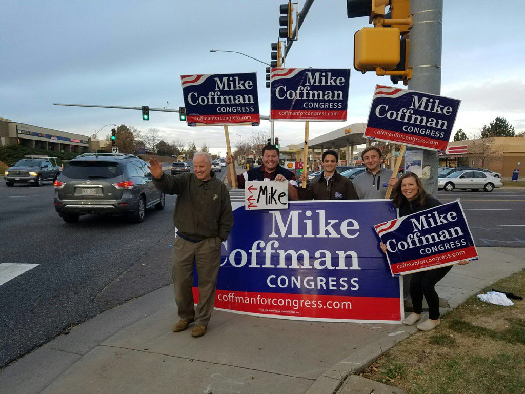 No one works harder than Mike! Gettin' out the vote!#copolitics
