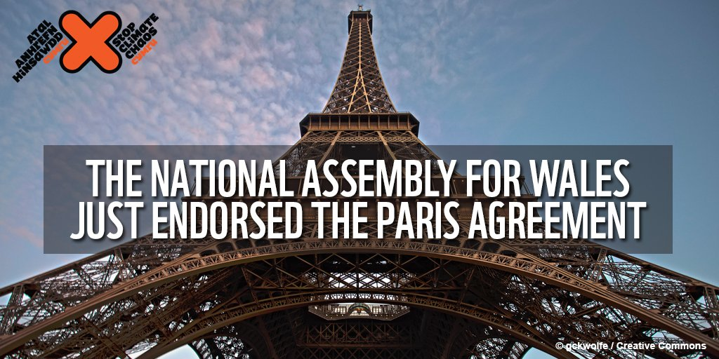 Great news! Now it's time for @WelshGovernment to deliver. #ParisAgreement https://t.co/QAsnn3FO8X