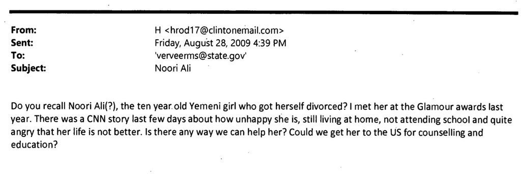A Hilary Clinton email that gets no headline. https://t.co/UoZ7QuUKHM