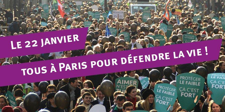 La grande Marche pour la vie est lancée ! R.D.V le 22 janvier à Paris CwRcPtGW8AE491g