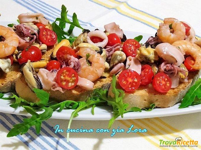 Bruschetta di mare con pomodoriniRicetta qui: