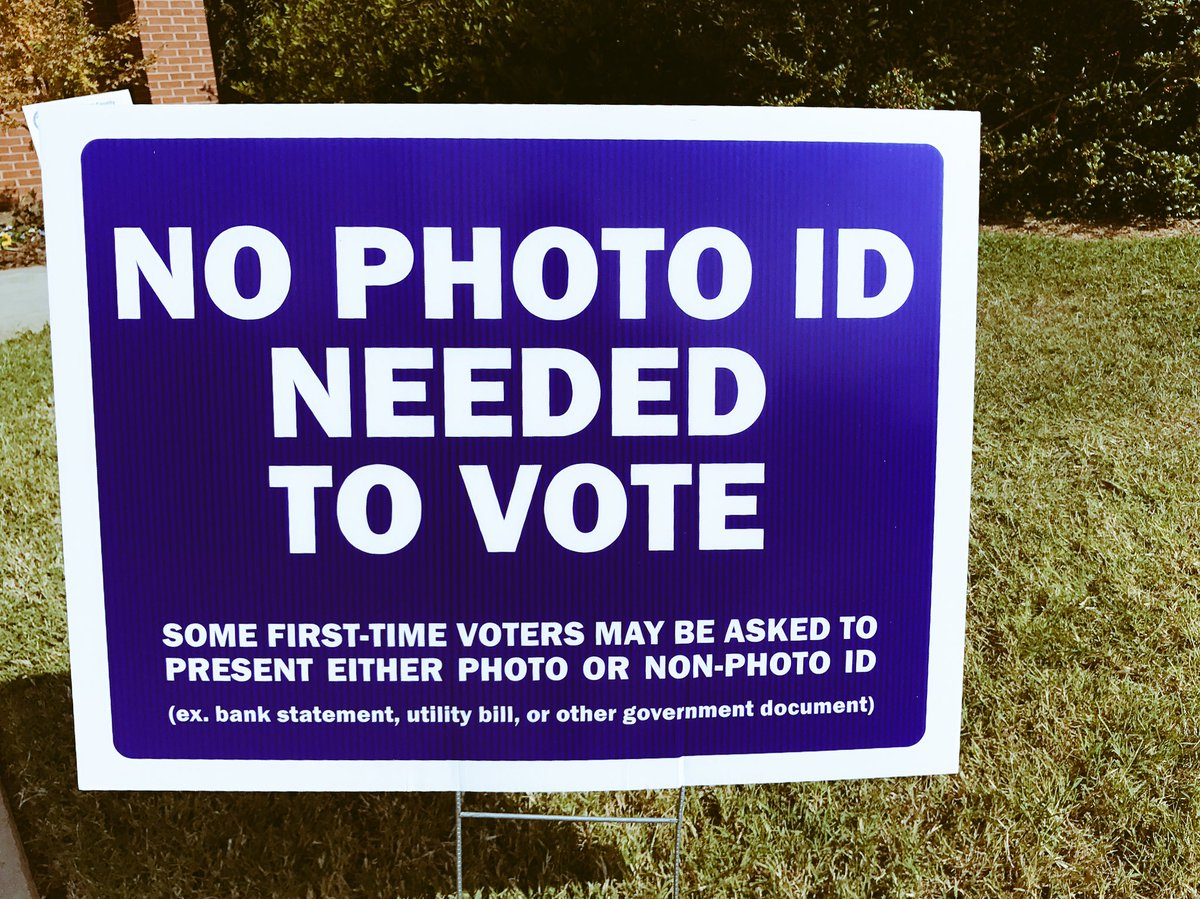 No photo ID needed to #Vote - #VoteEarly #VoteNow #NC #StrongerTogether https://t.co/DaB0u5i3iw
