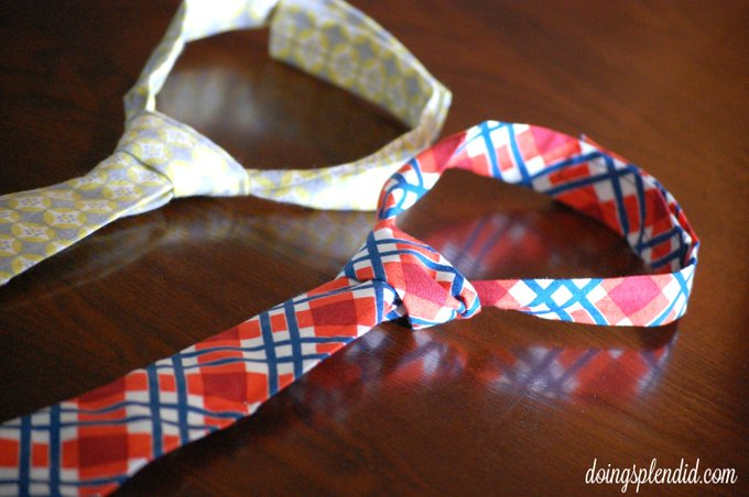 Little man ties are such a quick, easy, and fun sewing project! :) Sewing DIY Crafts