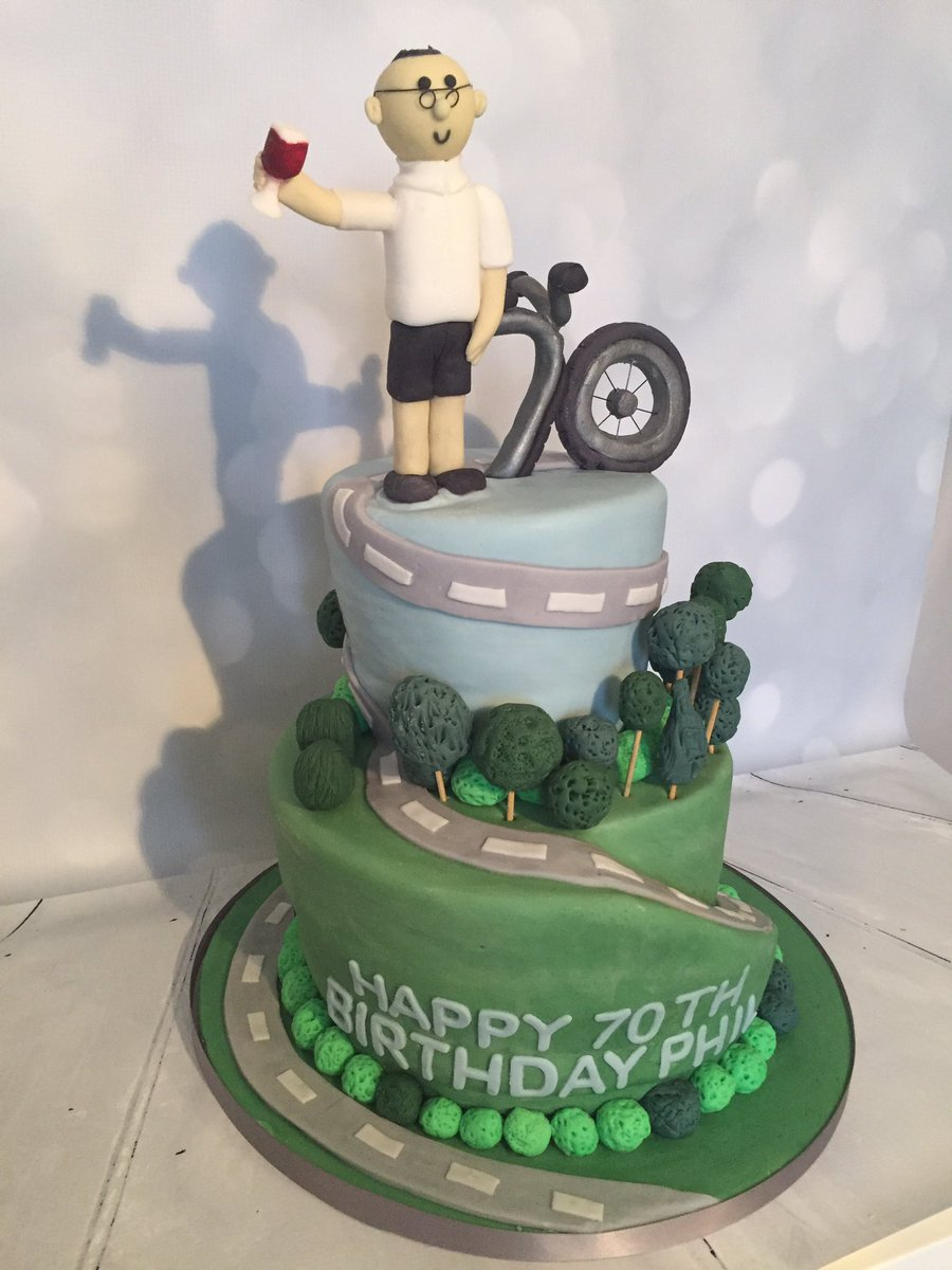 Adams Bakerycakes On Twitter 70th Cyclist Cake Made To Order