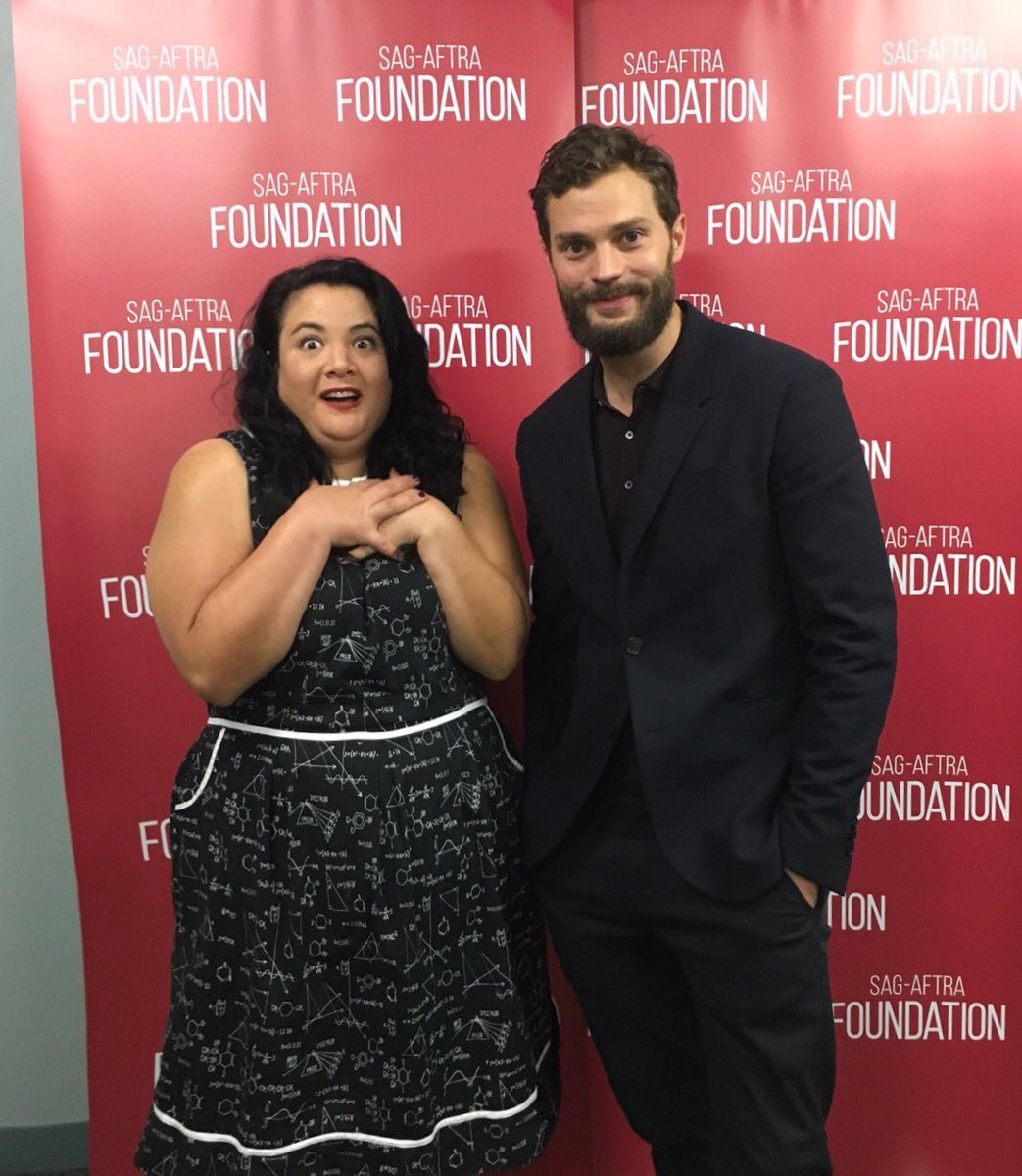 Jamie Dornan was a good sport when I told him I was up late watching THE FALL last night. https://t.co/aUycnu2Oaa