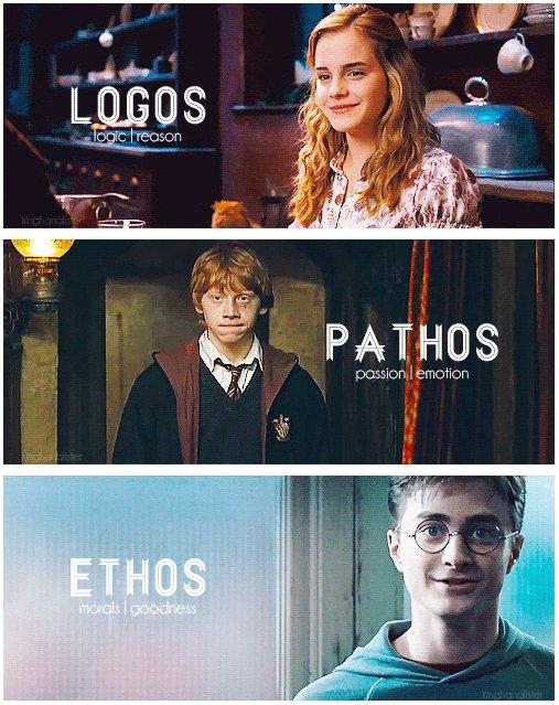 Harry Potter fandom got this. #ethoslogospathosexplained #yourewelcome #uoac https://t.co/tfCv3FJjMU