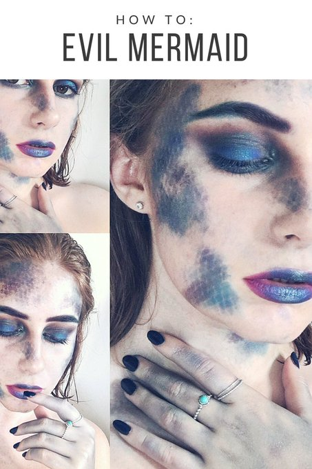 My Evil Mermaid Makeup Tutorial is on the blog now! bbloggers makeup halloween