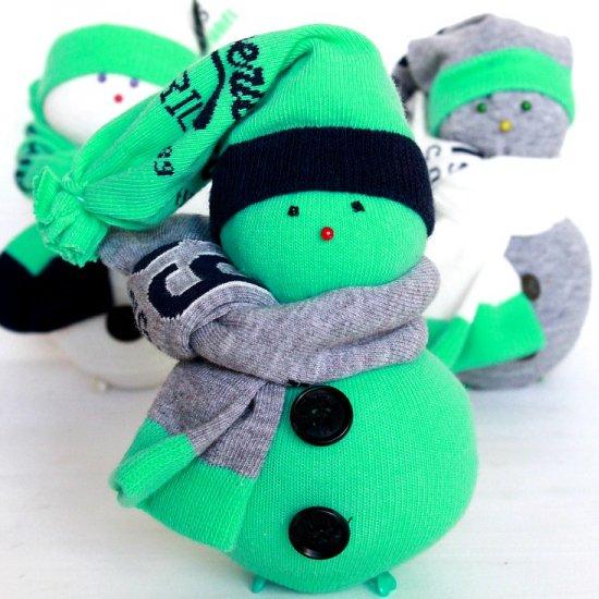 DIY DIY sock snowman