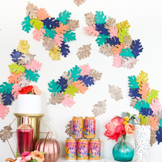 DIY DIY Colorful Fall Leaf Backdrop
